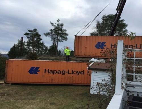 Containerprosjektet på Konglungen